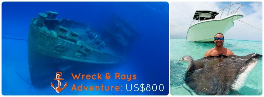 Snorkel with Stingrays and visit Kittiwake Wreck!